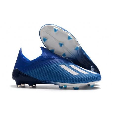 Scarpe da Calcio Adidas X 19+ FG Blu Bianco