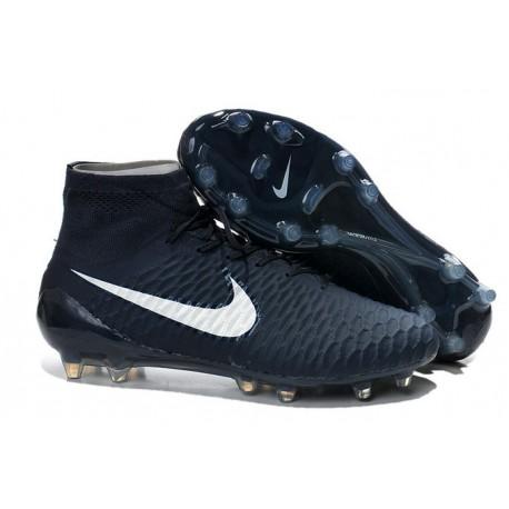 Nike 2015 Scarpini da Calcio Terreni Duri Magista Obra FG ACC Blu Scuro Bianco