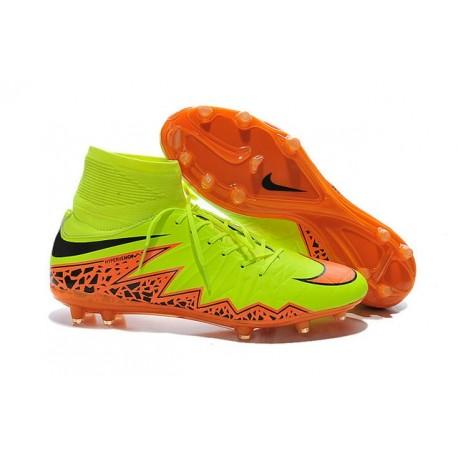 Scarpe da Calcio 2015 Nike Hypervenom Phantom II FG ACC Giallo Arancio Nero