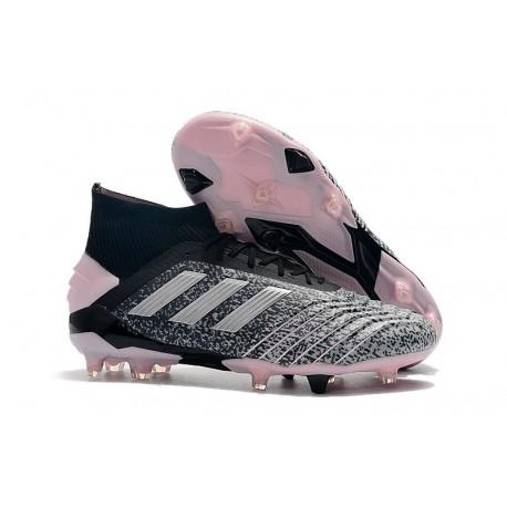 Scarpe da Calcio adidas Predator 19+ FG - Nero Argento Grigio