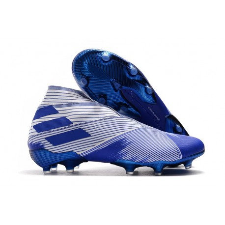 adidas Nemeziz 19+ FG Scarpe da Calcio Bianco Blu