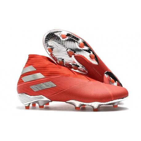 adidas Nemeziz 19+ FG Scarpe da Calcio Rosso Argento