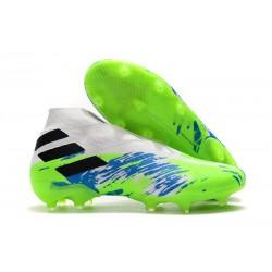 adidas Nemeziz 19+ FG Scarpe da Calcio Bianco Verde Nero