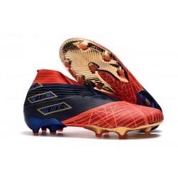 adidas Nemeziz 19+ FG Scarpe da Calcio Spider-Man Rosso Nero