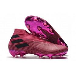 adidas Nemeziz 19+ FG Scarpe da Calcio Rosso Nero