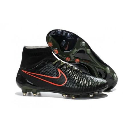 Nike 2015 Scarpini da Calcio Terreni Duri Magista Obra FG ACC Nero Verde Rosso