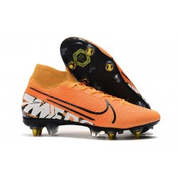 Nike Mercurial Superfly VII Elite SG PRO Anti-Clog Arancione Bianco