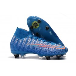 Nike Mercurial Superfly VII Elite SG PRO Anti-Clog Blu Rosso