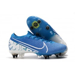 Nike Mercurial Vapor 13 Elite SG PRO Anti-Clog New Lights Blu Bianco