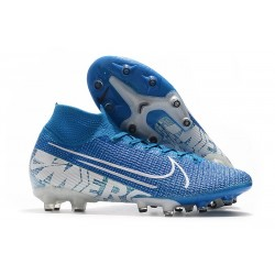 Nike Mercurial Superfly 7 Elite AG-PRO New Lights Blu Bianco