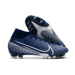 Nike Scarpa Mercurial Superfly 7 Elite SE FG -Blu Bianco