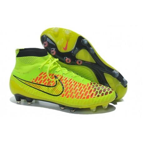 Nike 2015 Scarpini da Calcio Terreni Duri Magista Obra FG ACC Volt Oro Hyper Punch