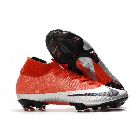 Nike Mercurial Superfly VII Elite DF FG Rosso Argento Nero