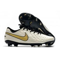 Scarpa Nuovo Nike Tiempo Legend 8 Elite FG Bianco Oro