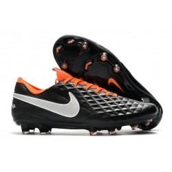 Scarpa Nuovo Nike Tiempo Legend 8 Elite FG Nero Arancione Bianco
