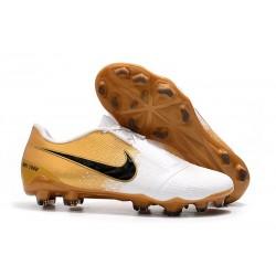 Scarpe da Calcio Nike Phantom Venom Elite FG -Bianco Oro Nero