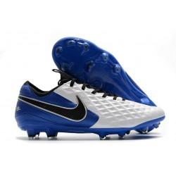 Nike Tiempo Legend VIII Elite FG ACC Bianco Blu Nero