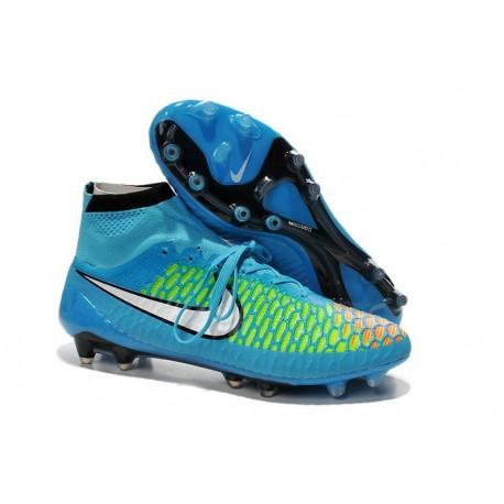 Nike 2015 Scarpini da Calcio Terreni Duri Magista Obra FG ACC Hyper Turchese Bianco Laser Arancione