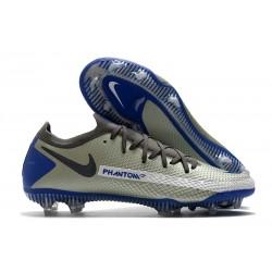 Scarpa Nuovo Nike Phantom GT Elite FG Grigio Blu Noir
