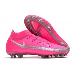 Scarpa Nike Phantom GT Elite Dynamic Fit FG Rosa Argento