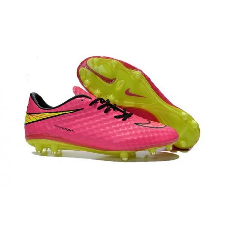 Scarpini Calcio Uomo 2015 Nike Hypervenom Phantom FG ACC Rosa Giallo