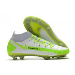 Nike Phantom GT Elite DF FG Nuovo Scarpa Bianco Verde