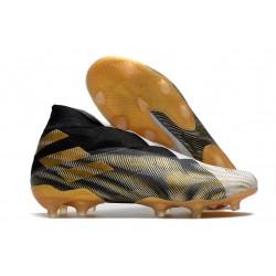 Scarpa Nuovo adidas Nemeziz 19+ FG Bianco Nero Oro
