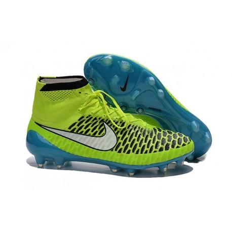 2015 Scarpe da Calcio Nike Magista Obra FG ACC Verde Blu Bianco