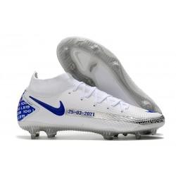 Nike Phantom GT Elite DF FG Nuovo Scarpa Bianco Blu
