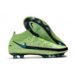 Nike Phantom GT Elite DF FG Nuovo Scarpa Verde Blu