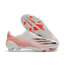 Scarpa da Calcio adidas X Ghosted + FG Bianco Rosso Nero