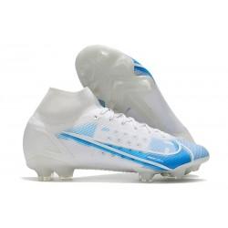 Nike Mercurial Superfly 8 Elite FG Bianco Blu