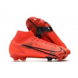 Scarpe Nike Mercurial Superfly VIII Elite FG Rosso Negro