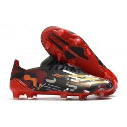 adidas Scarpe X Ghosted.1 FG Nero Rosso Oro