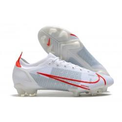 Scarpe Nuovo Nike Mercurial Vapor 14 Elite FG Bianco Rosso