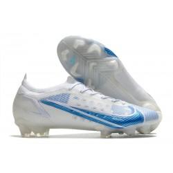 Scarpe Nuovo Nike Mercurial Vapor 14 Elite FG Bianco Blu