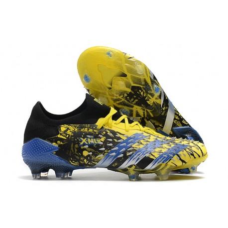 Scarpe adidas Predator Freak.1 Low FG X-Men Wolverine - Giallo Acceso Argento Metallico Nero Core