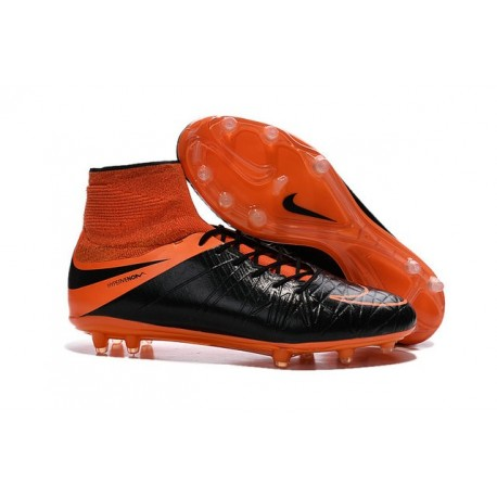 Nike 2015 Scarpette Calcio Hypervenom Phantom 2 FG ACC Nero Arancio