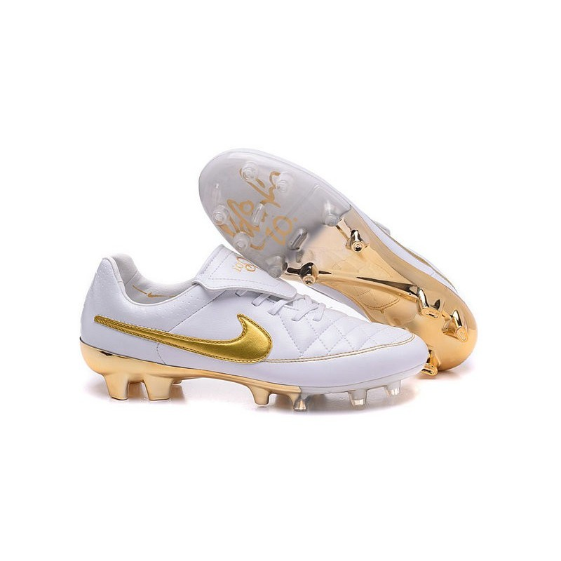 low priced 7af4d 68fc8 Nuovo Scarpe Calcetto Nike Tiempo Legend R10 FG ACC Bianco O