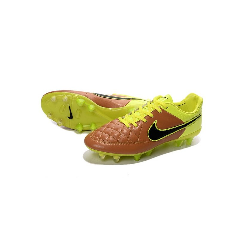 Tiempo Volt Acc Scarpe Nuovo Nike Legend V Fg Canvas Nero Calcetto TFK1Jucl3