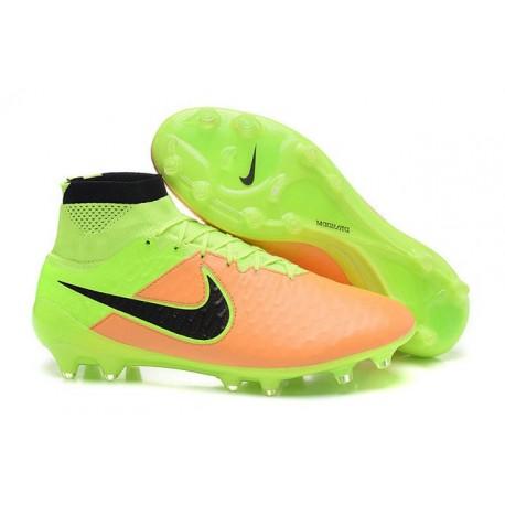 Scarpe da Calcio Nuovo Nike Nike Nike Magista Obra FG Pelle Giallo Verde Nero e28b55