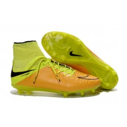 Nike 2016 Scarpette Calcio Hypervenom Phantom 2 FG ACC Pelle Giallo Nero
