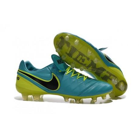 Nike Tiempo Legend VI FG Nuovo 2016 Scarpe da Calcio Blu Volt Nero