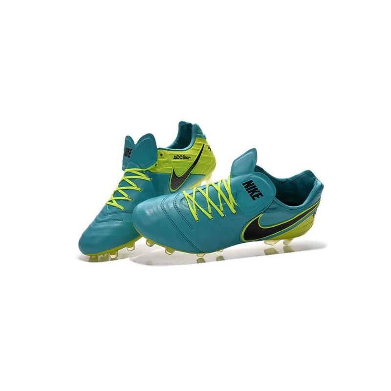 Nike Tiempo Legend VI FG Nuovo 2016 Scarpe da Calcio Blu Volt Nero dc63414cbcca