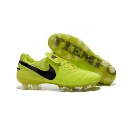 Nike Tiempo Legend VI FG Nuovo 2016 Scarpe da Calcio Volt Nero
