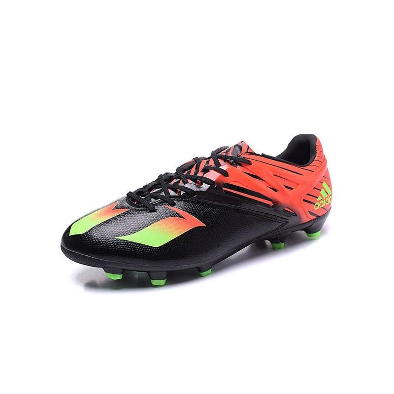 pretty nice 99277 76536 Nuove 2016 Scarpe da Calcio adidas MESSI 15.1 FG Nero Verde Rosso