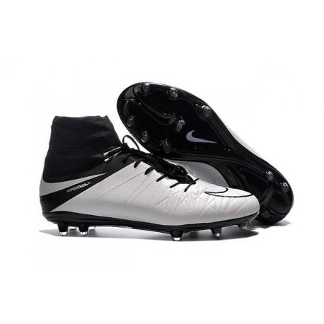 Nike 2016 Scarpe da Calcio Hypervenom Phantom II FG Pelle Bianco Nero