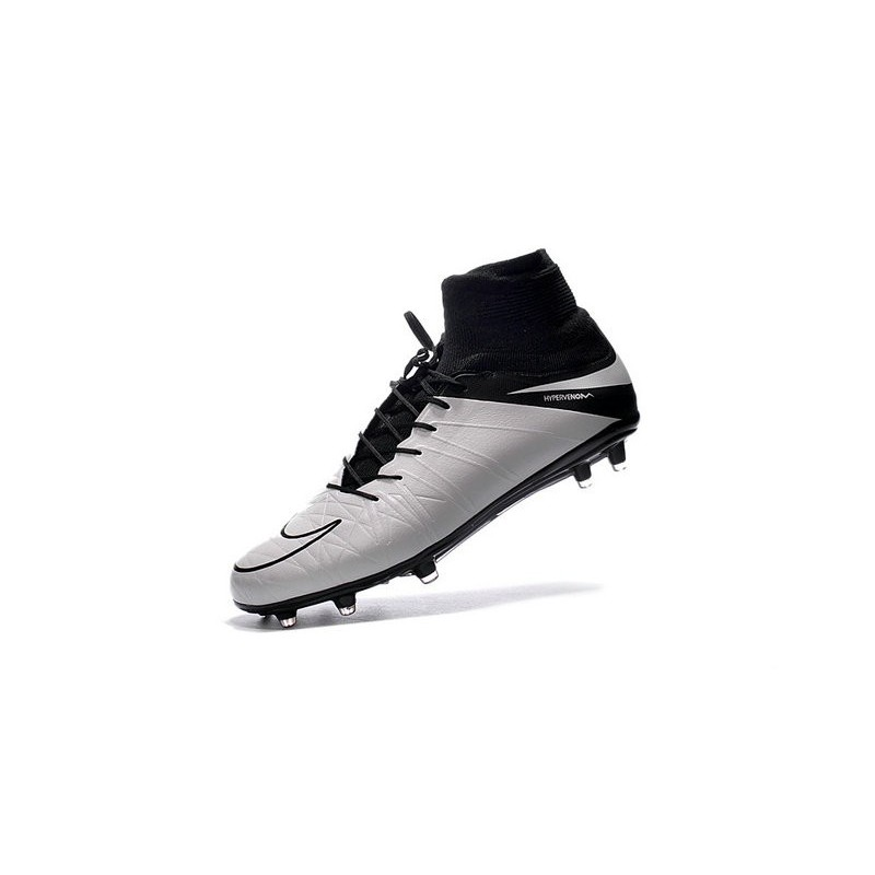 2016 Da Ii Pelle Fg Scarpe Calcio Nike Hypervenom Bianco Nero Phantom xdrBoeWC