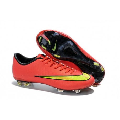 the latest f1eb4 95309 Scarpa da Calcio Nike Mercurial Vapor X FG Uomo Rosso Oro