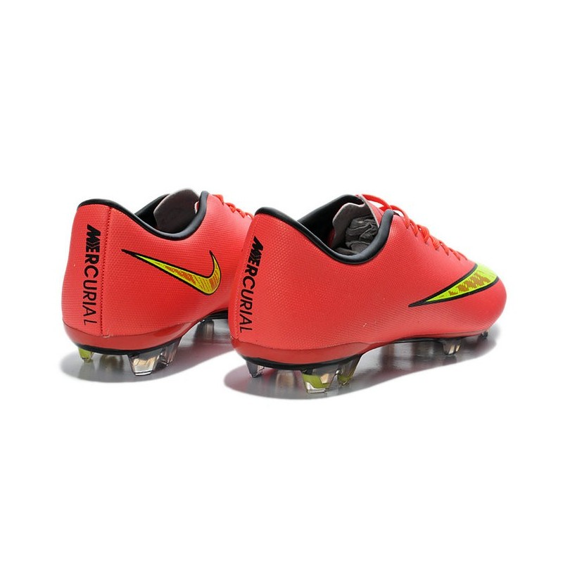 Scarpa da Calcio Uomo Nike Mercurial Vapor X FG Uomo Calcio Rosso Oro ce7112